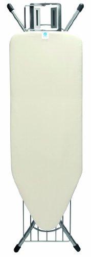 Brabantia asse da stiro con cuscinetto in silicone, extra large, Cotone, Ecru, C, acciaio inossidabile
