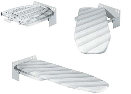 Britten & James® ASSE da Stiro Pieghevole a Parete Professionale - Progettato per Durare Una Vita - Giri Fino a 180 Gradi
