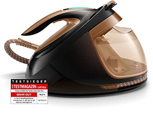 Philips gc9682/80Perfect Care Elite Plus ferro da stiro a vapore, dynamiq del sensore, 8Bar, 1.8L, 2700W, Rame/Nero